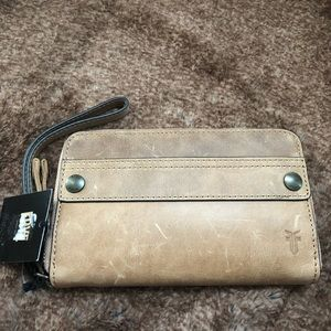 Frye Melissa zip large phone case wallet/wristlet.